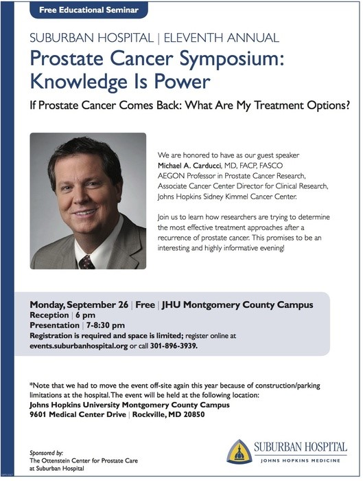 Sibley Memorial Hospital Prostate Cancer Symposium Knowledge Is Power